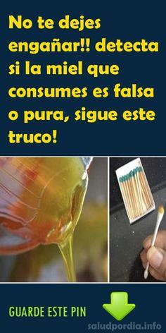 No te dejes engañar!! detecta si la miel que consumes es falsa o pura, sigue este truco! #miel #falsa #truco