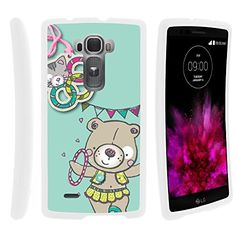 Buy LG Flex 2 Case, Perfect Fit Cell Phone Case Hard Cover with Cute Design Patterns for LG G Flex 2 II H850, LS996 (AT&T, Spring, US Cellular) from MINITURTLE | Includes Clear Screen Protector and Stylus Pen - Circus Bear NEW for 9.99 USD | Reusell