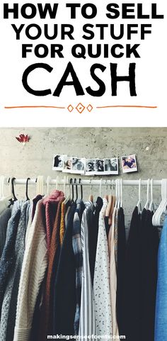 Find out how to sell your stuff for quick cash. This is a great list!