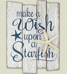 Mermaid kisses and starfish wishes karten und basteln make a wish upon a starfish wall art via fb sale at solutioingenieria Images