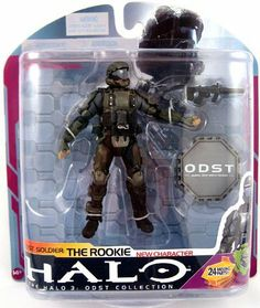 "Halo 2009 Wave 3 - Series 6 ODST Soldier The Rookie by McFarlane Toys. $25.95. Includes ODST Medal. Figure stands at 5"" tall. Main Character From New ODST Game. Includes Suppressed SMG Weapon. New Character. From the Manufacturer                McFarlane Toys' third 5-inch action figure assortment includes special collectible medal replicas, fully articulated Flood Pure Form: Stalker, and the first figure from the brand new Halo ODST game : ODST Soldier - The Rookie...."