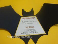 Batman Geburtstag Party Einladungen Satz von HappyToons auf Etsy