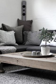 Interior dark Grey sofa #fall