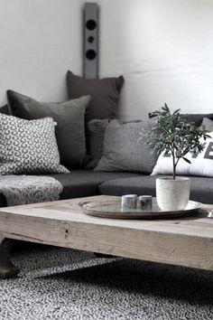 Interior dark Grey sofa #fall