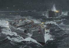E-boat vs LSTs, MTBs, and MGBs, 28 April 1944