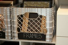 How to Spray Paint Plastic. Great idea for old milk crates!!