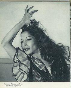 The legendary Carmen Amaya of Barcelona.