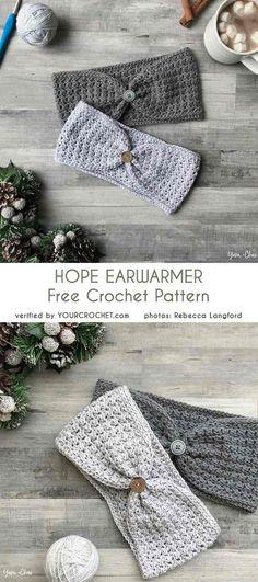 New Hat Pattern Crochet Free Ear Warmers Ideas Bonnet Crochet, Crochet Gloves, Crochet Baby Hats, Crochet Beanie, Crochet Ear Warmers, Crochet Bags, Crochet Crafts, Crochet Projects, Grannies Crochet