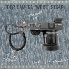 Learn how to make a DIY Camera Wrist Strap. Keep your camera close with this easy and beginner friendly paracord project.