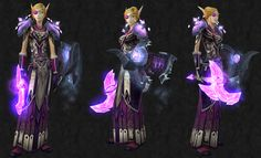 Plate - Paladin only / Pink and purple colour scheme -transmog idea    Head: [Crimson Beholder Eye]Shoulder: [Crystalforge Shoulderguards]Chest: [Replica Soulforge Breastplate]Hands: [Life Bearer's Gauntlets]Waist: [Sha'tari Vindicator's Waistguard]Legs: [Cassock of the Loyal]Feet: [Warmaul Greaves]Weapon: [Netherbane] Shield: [Lost Pavise of the Blue Flight]