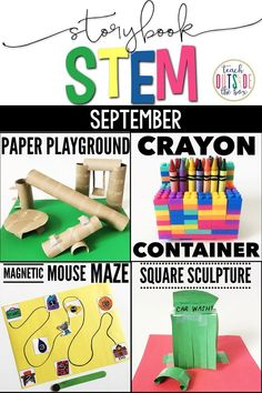 Four Back to School themed STEM Challenges and Language Arts lessons to accompany favorite read alouds! Elementary STEM Activities | Kindergarten, First Grade, Second Grade