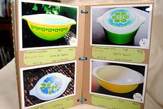 Pyrex scrapbooking very smart idea