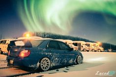 Subaru withe Nothern lights.