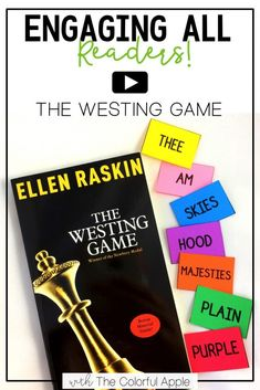 The Westing Game is a mystery like no other! It's a perfect novel to engage students in upper elementary and middle school. It can get a bit tricky, so here are some ideas that I use to keep all readers on track. The Westing Game, Teaching Strategies, Teaching Resources, Teaching Ideas, Upper Elementary, Elementary Teaching, Reading Activities, Guided Reading, Middle School Reading