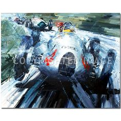 A Show of Force (Nuvolari / Auto Union / Donington) Original Painting by John Ketchell