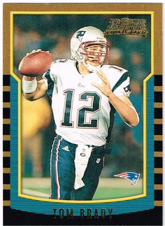 e61a071a1f4 Tom Brady : New England Patriots : Rookie Card : Bowman Numbered 236 of  Year 200