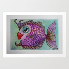 MODESTY Art Print by Caribbean Critters Co. - $19.00