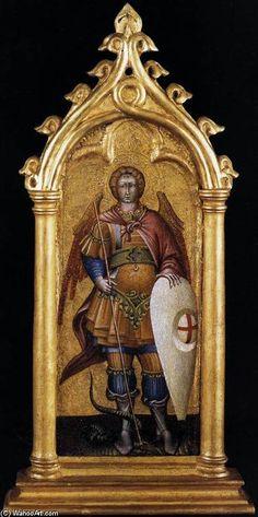 Giovanni Di Paolo (1403-1482),San Michele Arcangelo, tempera su tavola (1440), Pinacoteca del Vaticano