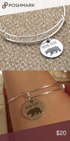Mama Bear Bangle Bracelet Brand new! Show your mommy pride with this lovely mama bear bracelet. Comes in gift box all ready to gift your mom or yourself.  Made of zinc alloy, which will not tarnish. Ships same day if ordered by 10:00 CST. 15% bundle discount on 3 items. LuckyMia Jewelry Bracelets