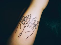 """Catfish and the Bottlemen inspired tattoo. """"You're Simpatico"""" - lyric from their song Kathleen The art style was to compliment their style in album arts."""