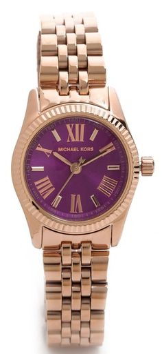 #Purple and rose gold Michael Kors watch http://rstyle.me/n/fv6sknyg6