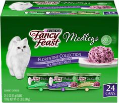 Dog Stuff Organize Size: 3 oz. |Color: Florentine - Chicken Tuna Turkey Bring the unmistakable classic Italian Florentine flavors to your cat's feedings with the Purina Fancy Feast Medleys Florentine Collection wet cat food variety pack. Each recipe in this wet cat food collection features the savory taste of tuna turkey or white meat chicken to tempt her taste buds. Accents of garden greens add a visual cue ...>>> You can find more details by visiting the image link. (This is an affiliate…