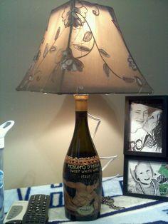 Homemade Lamp from Wine bottle