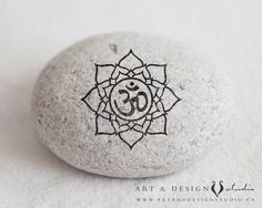 Lotus Flower OM Yoga Art Positive Print by inspiredartprints