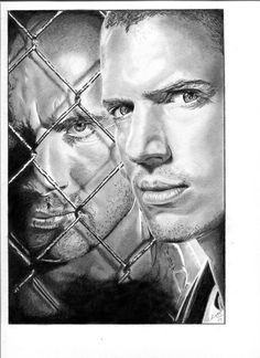 Prison Break - The Brothers. Pencil drawing by my good self
