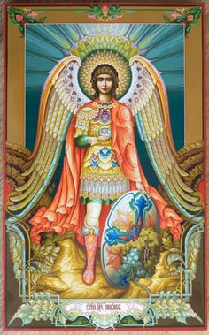 Michael the Archangel igazán színes kép és kifejezi Szent… Religious Images, Religious Art, Seraph Angel, Religion Catolica, Angel Warrior, Religious Paintings, Angels Among Us, Archangel Michael, Light Of The World