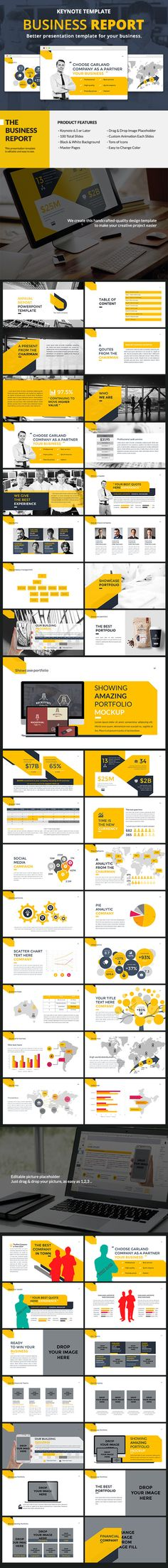 Business Report Keynote Template #design #slides Download: http://graphicriver.net/item/business-report-keynote/12624296?ref=ksioks
