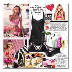 """*Lingerie*"" by kerol-bartoli ❤ liked on Polyvore featuring Graham & Brown, Victoria's Secret, Folio, Amara, Clinique, Pleaser, Dolce&Gabbana, LoveStories, Lux-Art Silks and Smashbox"