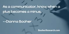 As a communicator, know when a plus becomes a minus. #Communication #CommunicationSkills #Quotes