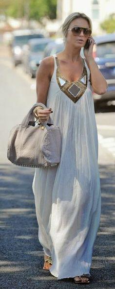 Maxi vestido. Sugerido para mujeres altas