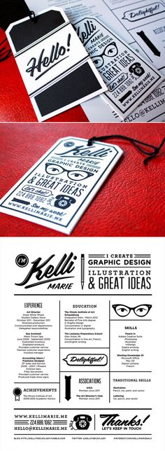 Personal Stationary: Business Cards + Resume; Kelli Marie #design. I really like the font on this one