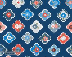 8-96122-2 Oilily Home AS Creation Blumen-Tapete dunkel-blau