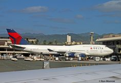 https://flic.kr/p/qoe11G | Delta Airlines, Boeing 747-400 | PHNL (Honolulu International, Hawaii Dec. 28, 2014