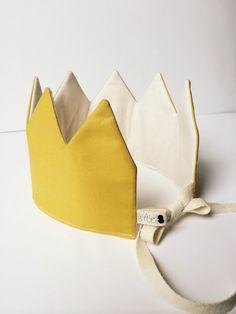 Fabric Crown-Mustard by ValpoStudio on Etsy