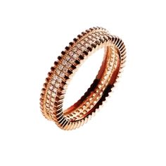Oxette Rose Gold Silver 925 Ring with zircons - Available here http://www.oxette.gr/kosmimata/daktulidia/silver-rose-gold-plated-ring-with-cz-oxette-622l-1/  #oxette #rosegold #ring #jewellery