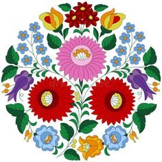 Photo about Hungarian embroidery folk pattern in circle shape from the famous Kalocsa region. Illustration of famous, intricate, elegance - 71555921