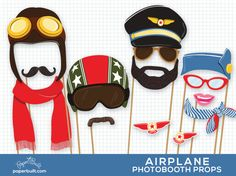 Airplane Party Photo Booth Props Airplane by PaperBuiltShop