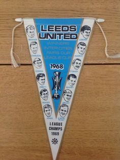 1968 Leeds United FC pennant The Damned United, League Champs, Leeds United Fc, Retro Football, Blue Gold, Counting, Liverpool, The Unit, Memories