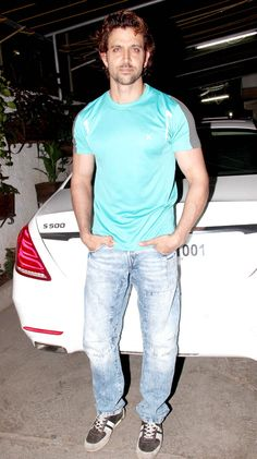 Hrithik Roshan at a screening of 'Welcome To Karachi'. #Bollywood #Fashion #Style #Handsome