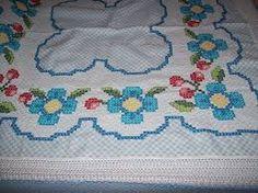 Resultado de imagem para bordados em tecido xadrez