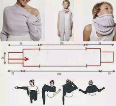 Lifestyle & Creations: Sjaal met mouwen