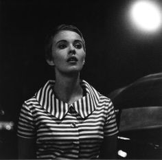 Jean Seberg during filming