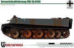 VK.4501(H) Ww1 Tanks, Military Equipment, Weapons Guns, Military Art, Armored Vehicles, War Machine, Us Army, World War Two, Warfare