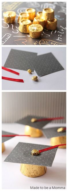 Graduation Cap Rolo Favors