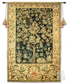 """Tree of Life Wall Tapestry by William Morris at Art.com 53x71"""" $560"""