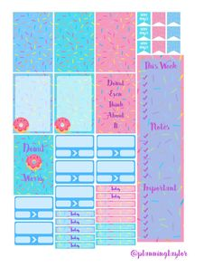 Free Printable- Mambi Happy Planner: Donuts